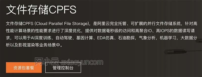 阿里云文件存储CPFS